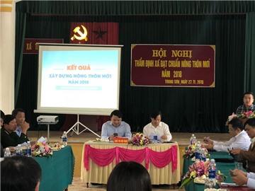 Thẩm định các tiêu chí nông thôn mới tại xã Trung Sơn, huyện Đô Lương