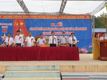 Đại Thành đón nhận xã đạt chuẩn NTM 2018.