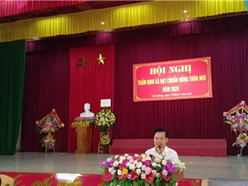 Thẩm định các tiêu chí nông thôn mới tại xã Nghi Quang