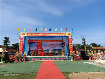 Lễ Công bố xã Nghĩa Hoàn, huyện Tân Kỳ đạt chuẩn Nông thôn mới năm 2019