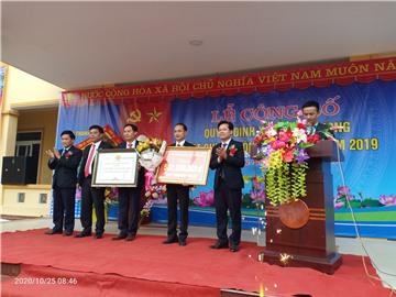 Lễ công bố xã Thanh Phong, huyện Thanh Chương đạt chuẩn Nông thôn mới năm 2019