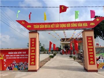 Quỳnh Lưu - Thẩm định, đánh giá kết quả xây dựng nông thôn mới  xã Tân Thắng, xã Quỳnh Thắng